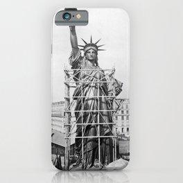 Statue of Liberty Construction - Paris - 1884 iPhone Case