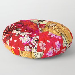 日没 (sunset) Floor Pillow