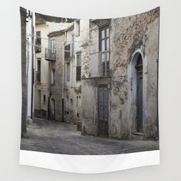 Sicilian Alley in Caltabellotta Wall Tapestry