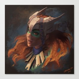 Huntress of the Frozen Wilds Canvas Print