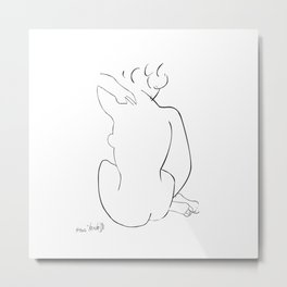 Nude Sketch by Henri Matisse Metal Print