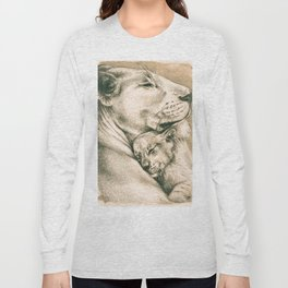 Lioness And The Cub Long Sleeve T-shirt