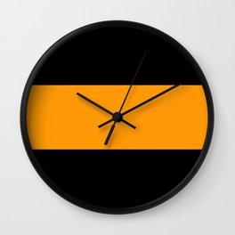 Just three colors 14 Black,orange,black Wall Clock
