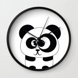 Cute Panda Illustration Wall Clock