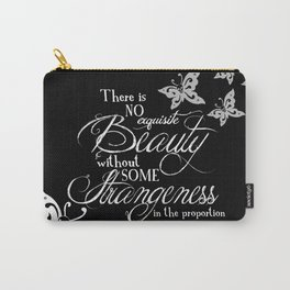 Strange Skullerflies - EA Poe Quote Carry-All Pouch