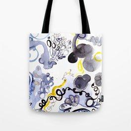 Blue Frenzy Tote Bag