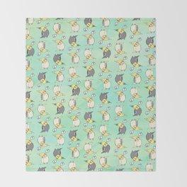Confused Cockatiel - Pattern Throw Blanket