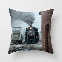 Strasburg Railroad Steam Engine #90 Vintage Train Locomotive Pennsylvania Throw Pillow