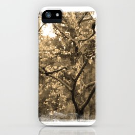 Tree of Hearts - Sepia iPhone Case