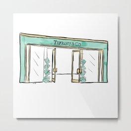 Tiffany Shopfront Metal Print