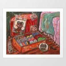 Meena Packs Art Print