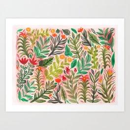 Dusky Pink Garden Art Print