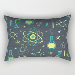 Midcentury Modern Science Rectangular Pillow