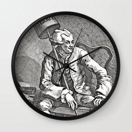 Radical Journalism - Engraving of John Wilkes - 18th Century  Wall Clock