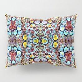 Colorful Gold Circles Pattern Pillow Sham