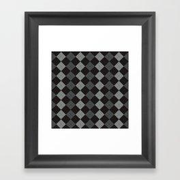Golf Grey Framed Art Print