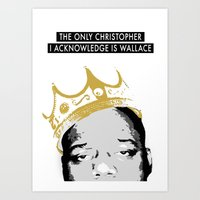 biggie Art Prints featuring Biggie by JulieAaland