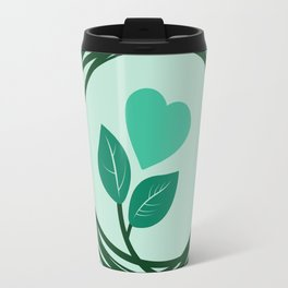 Cute heart in a nest Travel Mug
