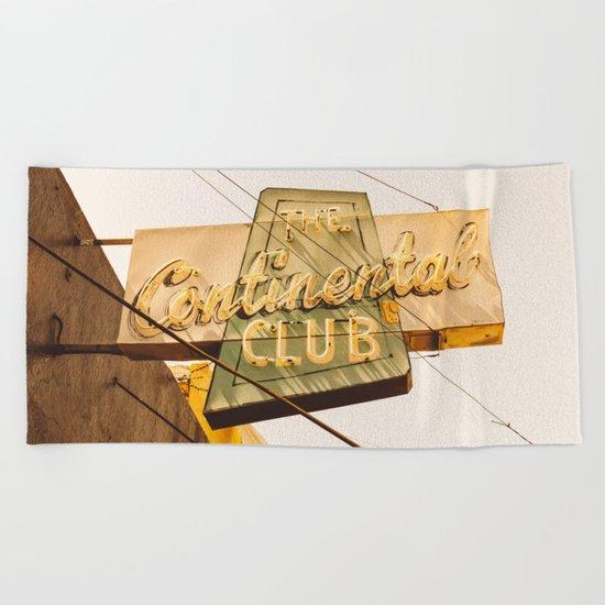 The Continental Club Beach Towel