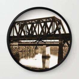 Bridge over the Merrimack River Wall Clock