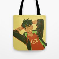 viria Tote Bags featuring percy by viria