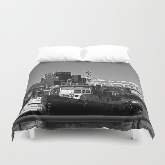 Old Port Montreal Duvet Cover