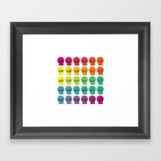 Rainbow Skullz Framed Art Print