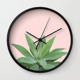 Blush Agave Vibes #1 #tropical #decor #art #society6 Wall Clock