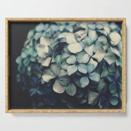 blue hydrangea Serving Tray