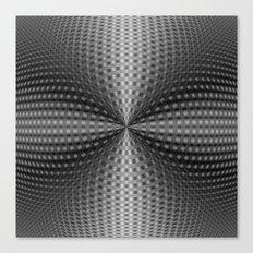 Circular Pinch in Monochrome Canvas Print