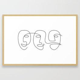 Line Carnival Framed Art Print