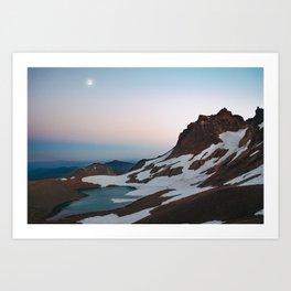 Alpine Lake Moonrise Art Print