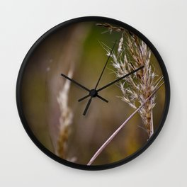 The Wind Blows through the Wheat Wall Clock
