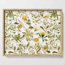 Vintage & Shabby Chic - Yellow Wildflowers Serving Tray