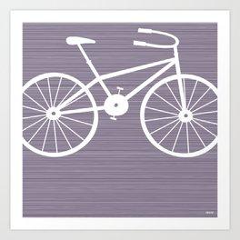 Purple Bike Art Print