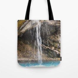 Hot Sulphur Springs Waterfall Tote Bag