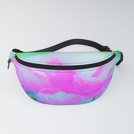Abstract Pink Hibiscus Bloom with Flower Power Fanny Pack