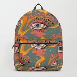 Cosmic Eye Retro 70s, 60s inspired psychedelic Backpack
