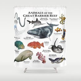 Animals of the Great Barrier Reef Shower Curtain
