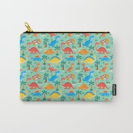 Dinos Green Carry-All Pouch