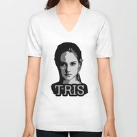 divergent V-neck T-shirts featuring Divergent: Tris by Flash Goat Industries