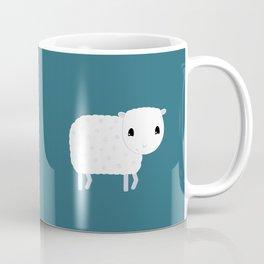 Smiling Sheep - Petrol Blue Coffee Mug
