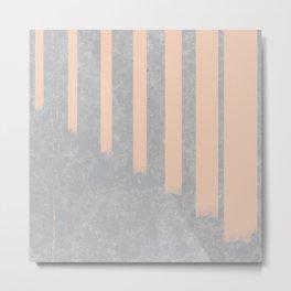 Blush stripes on concrete Metal Print