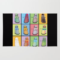 dalek Area & Throw Rugs featuring Dalek Dreams by Megs stuff