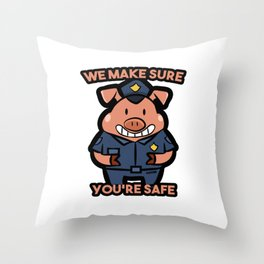 Pig police security Gift Throw Pillow