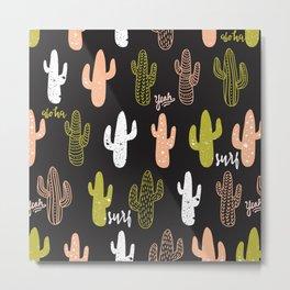 Spring Cactus Metal Print