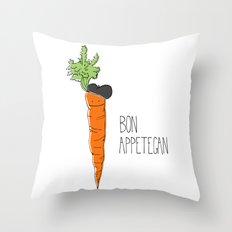 Bon Appetegan - Vegan Cooking Throw Pillow