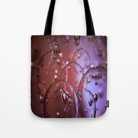 jewish Tote Bags featuring Red Glass Bubbles by Brown Eyed Lady