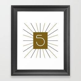 Mocha Script 5 Framed Art Print