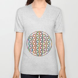 Flower of Life Colored | Kids Room | Delight Unisex V-Neck